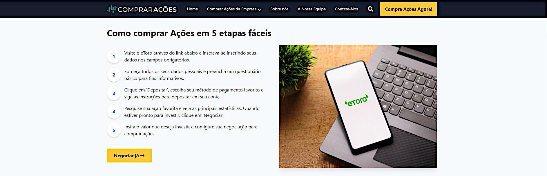Foto de ComprarAções