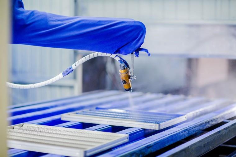 Foto de Aplicação de revestimento industrial